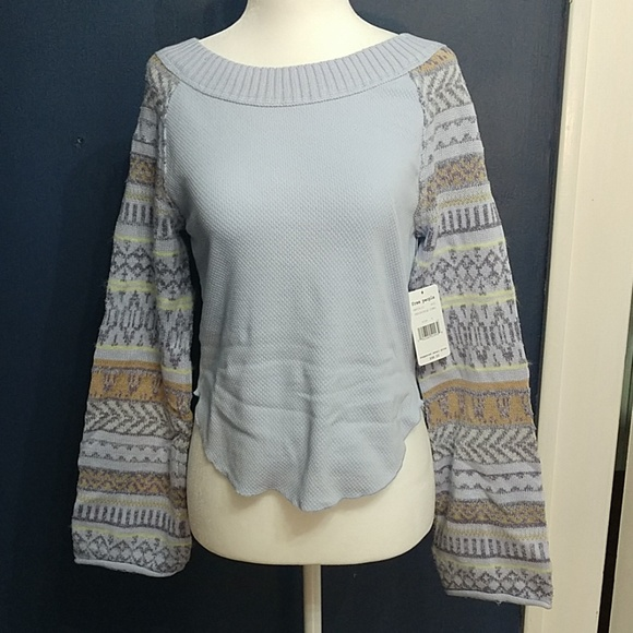 Free People Tops - Free People Periwinkle Sweater Size S NWT